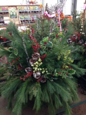 Large Christmas Greens Decoration