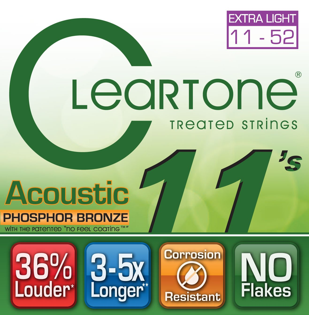 CLEARTONE 11's Phosphor Bronze Custom Lights