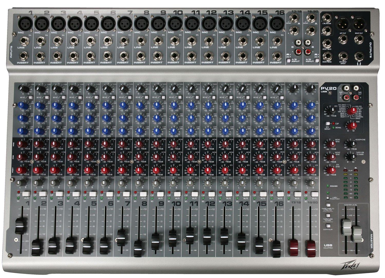 PEAVEY PV 20 USB Non-Powered Mixer