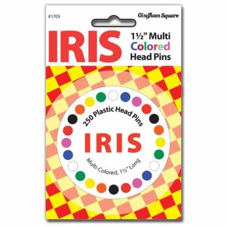 Iris Multi Color Head Pin-250 Ct.