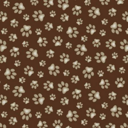 Paw Prints-Brown