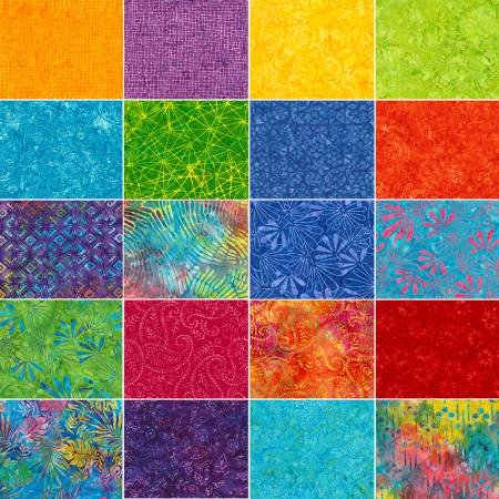 6 Strip Pack-Batik-Zing 20 piece