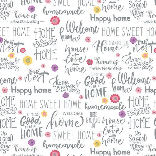 HOME SWEET WORDS WHITE/MULTI