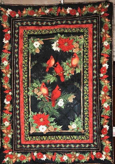Cardinal Noel Panel Quilt Kit