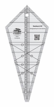 Creative Grid-Starburst 30 Degree Triangle Ruler