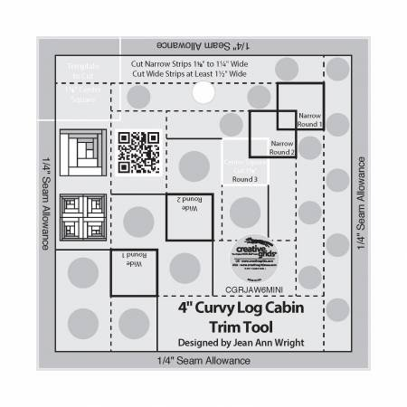 Creative Grid-4 Curvy Log Cabin Ruler