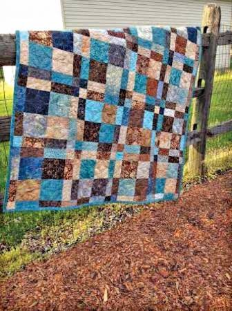 Cut Loose Press-Double Four Patch Throw
