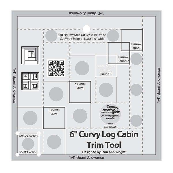 Creative Grid Curvy Log Cabin Trim Ruler 6