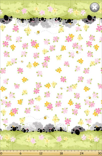 Lal the Lamb Double Border Print SB20302 Pink