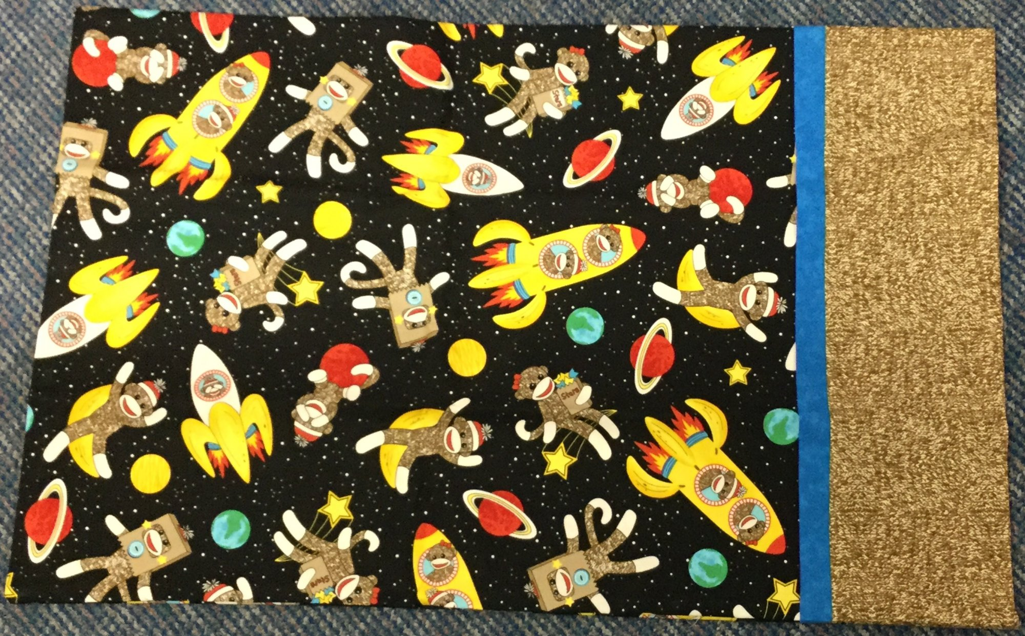 Pillowcase Kit-Sock Monkey in Space