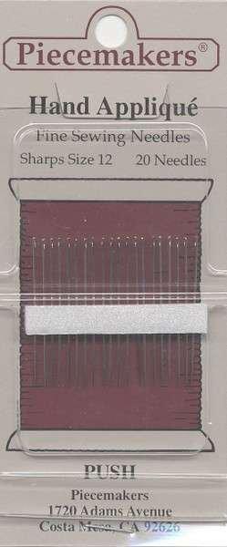 Piecemakers: Hand Applique Size 12