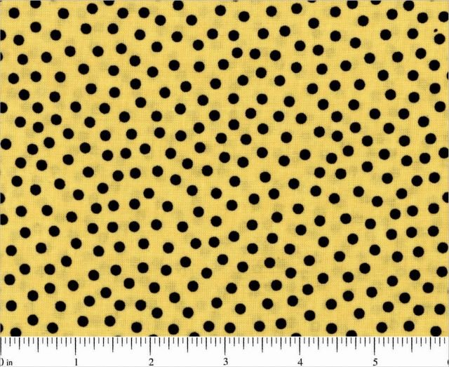 Give A Hoot-Yellow w/Black Dots