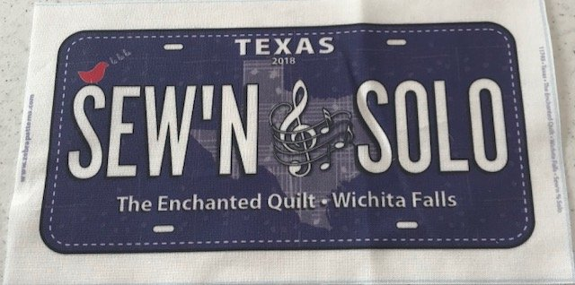 Row by Row License Plate-2018