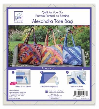 Quilt As You Go Tote Alexandra
