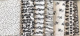 Fat Quarter Bundle-Black Linework