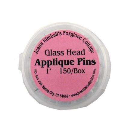 Glass Head Applique Pins