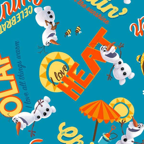 Disney Frozen Aqua Olaf Chillin