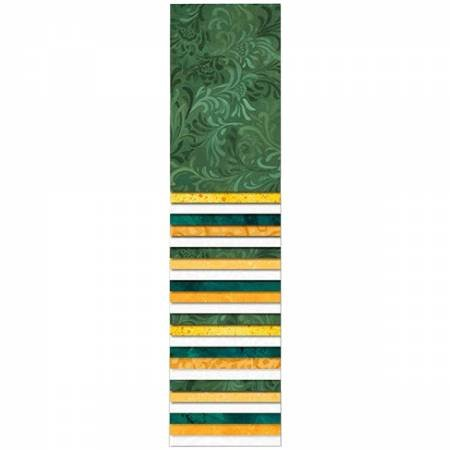 Essential Gems-#1 Green/Gold/White-2 1/2 strips