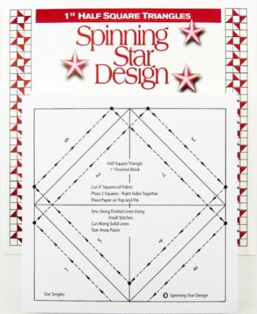 Half Square Triangles Singles 1 Inch-Spinning Star Design