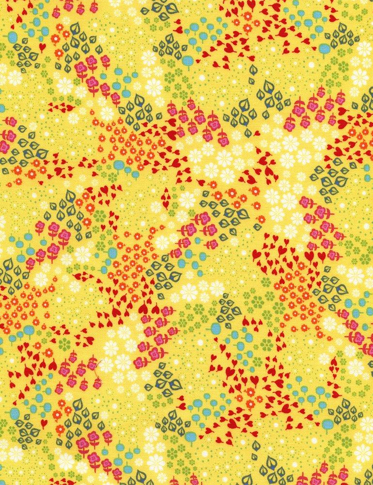Tribeca-C3441 Yellow Tiny Flowers