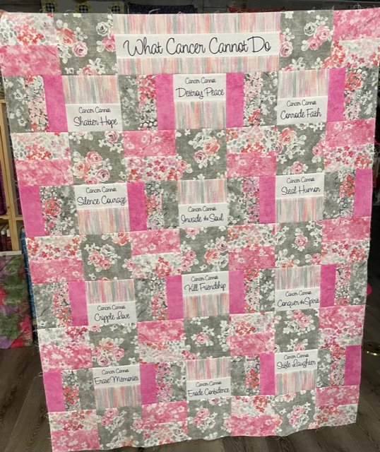 What Cancer Cannot Do-Pink & Gray Floral