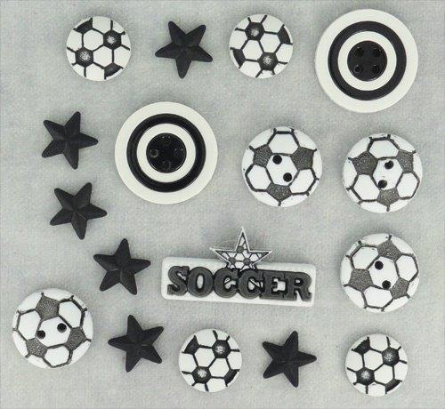 B-0418 Soccer Buttons