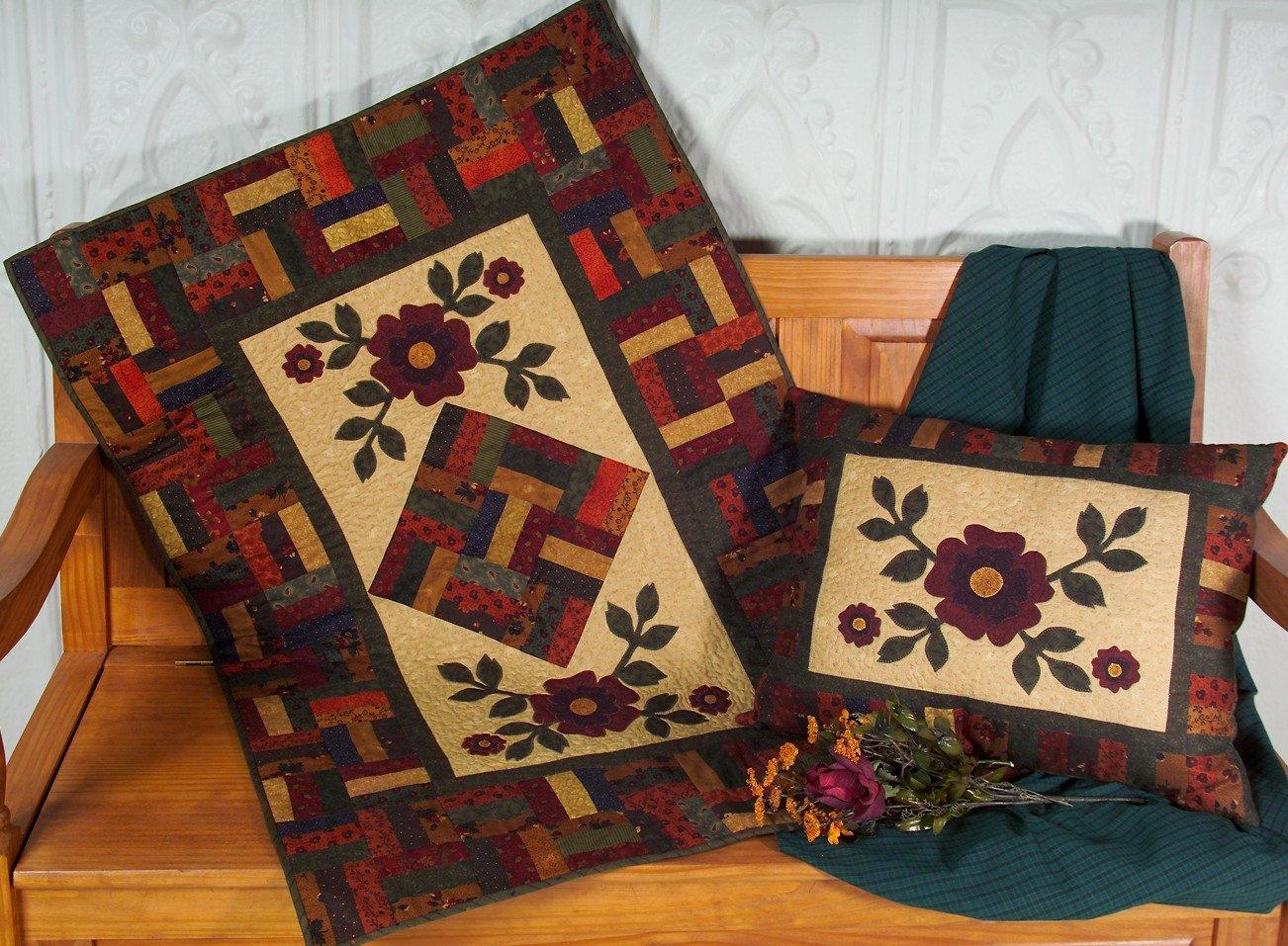 116 Autumn Roses Runner & Pillow