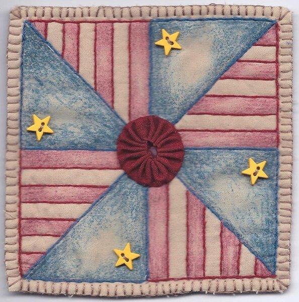 03 Vintage Patriotic Pinwheel