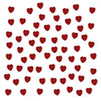 B1863 Button Fun Red Hearts