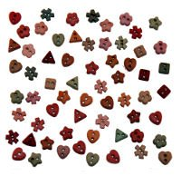 B2213 Sew Thru Shapes Au Naturale Buttons