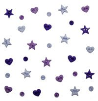 B3253 Micro Mini Shapes Purple