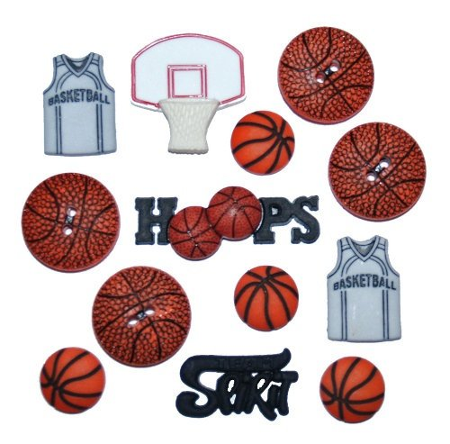 B9418 Basketball Buttons