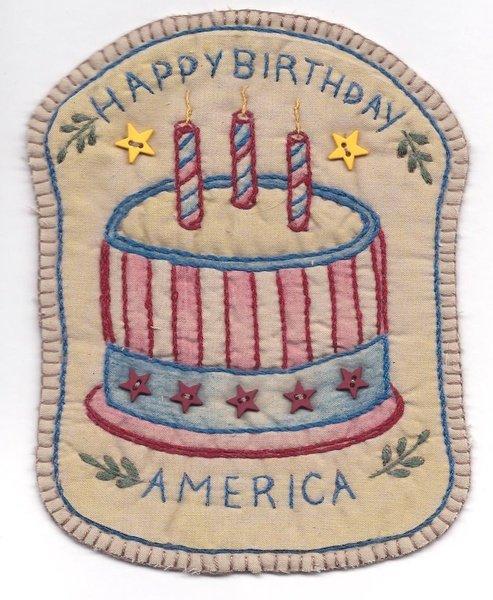 06 Vintage Patriotic Cake