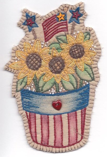 12 Vintage Patriotic Sunflower