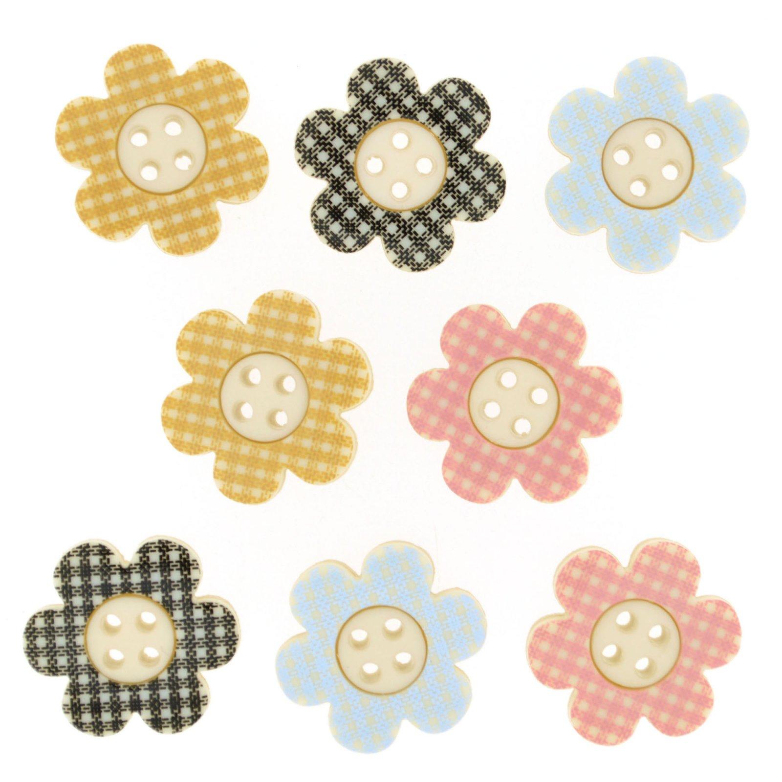 B8309 Plaid Petals