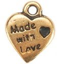 BMWLC Made With Love Charms (gold)