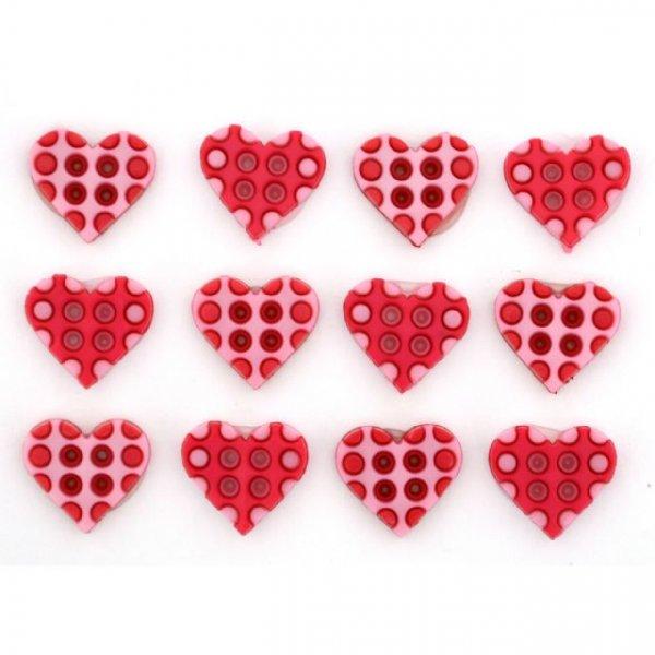 B9461 POLKA DOT HEARTS PINK