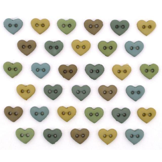 B9536 Micro Mini Hearts-Earth Tones