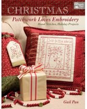 B1333                               Christmas Patchwork Loves Embroidery - Hand Stitches, Holiday Projects