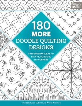 B1453 180 More Doodle Quilting Designs - Free-Motion Ideas for Blocks, Borders, and Corners