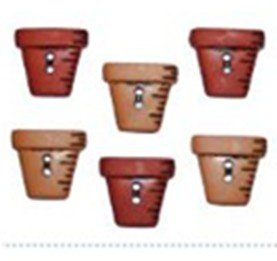 B0800 Button Fun -Sew Thru Flower Pots