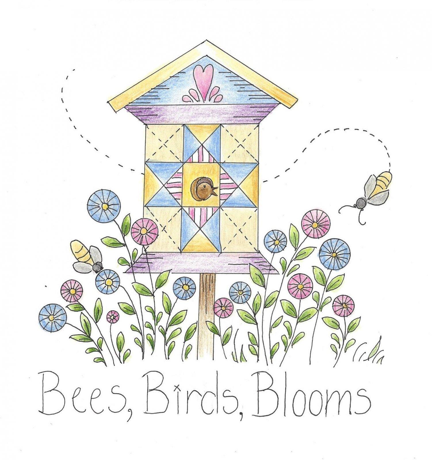 CL010 Bees, Birds & Blooms