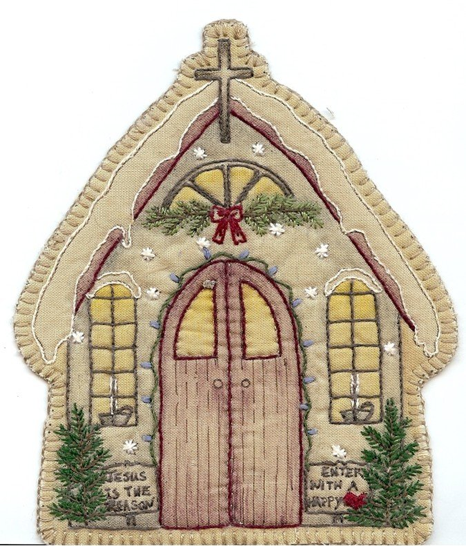 13 Vintage  Christmas Church