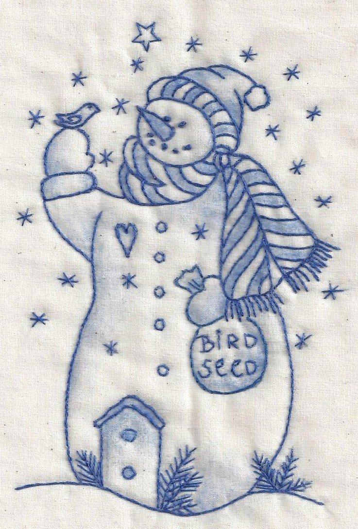 CK09B Snowman With Bird Seed