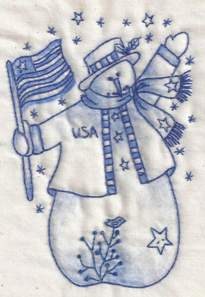 CK10B USA Snowman