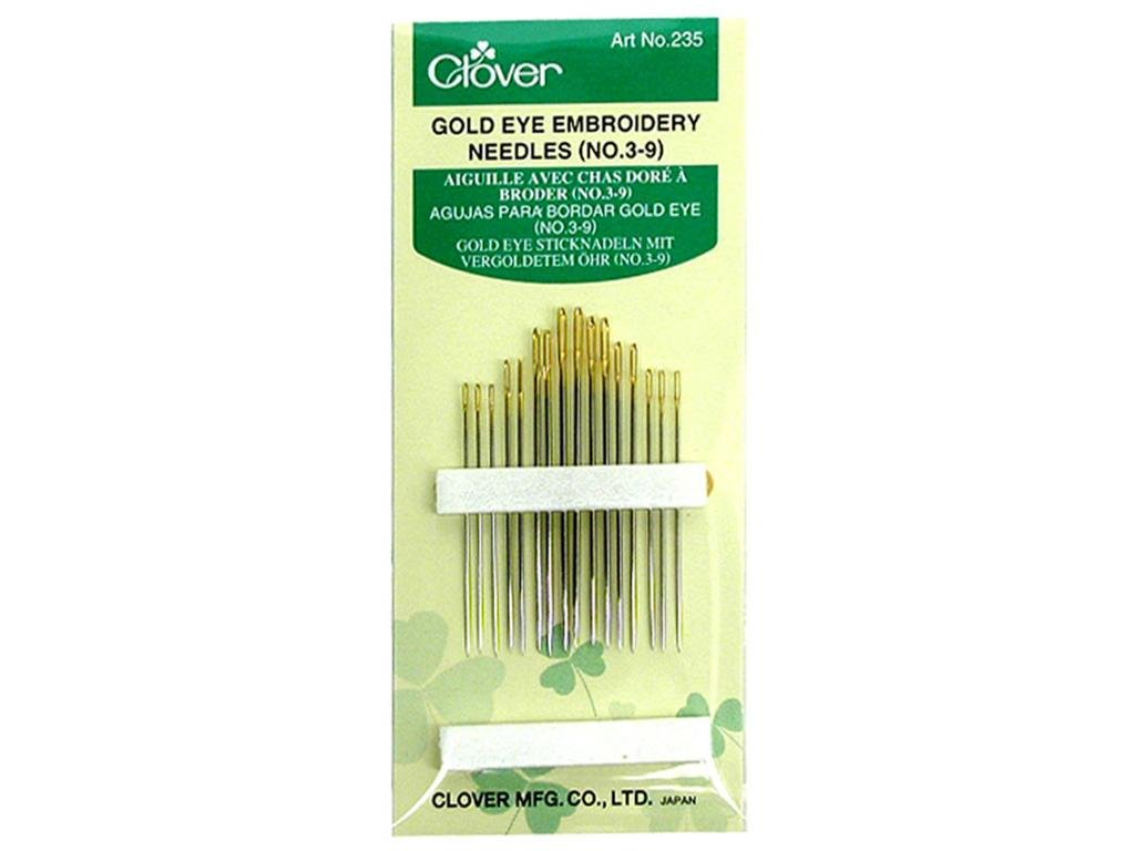 Clover Gold Eye Embroidery Needles 3/9