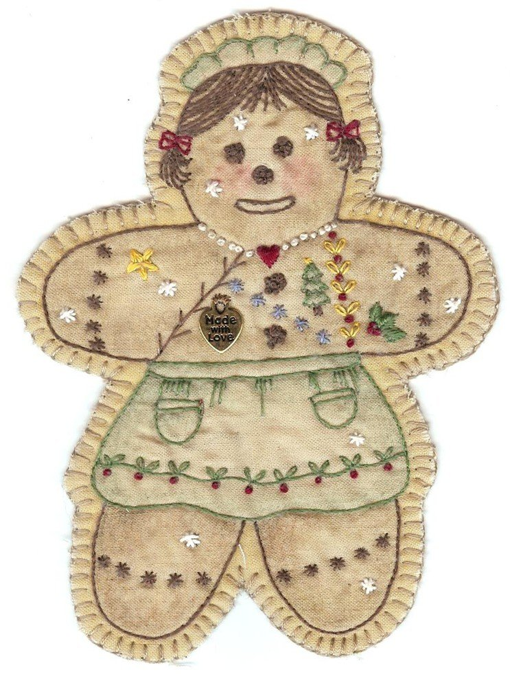 16 Vintage  Christmas  Gingerbread Girl