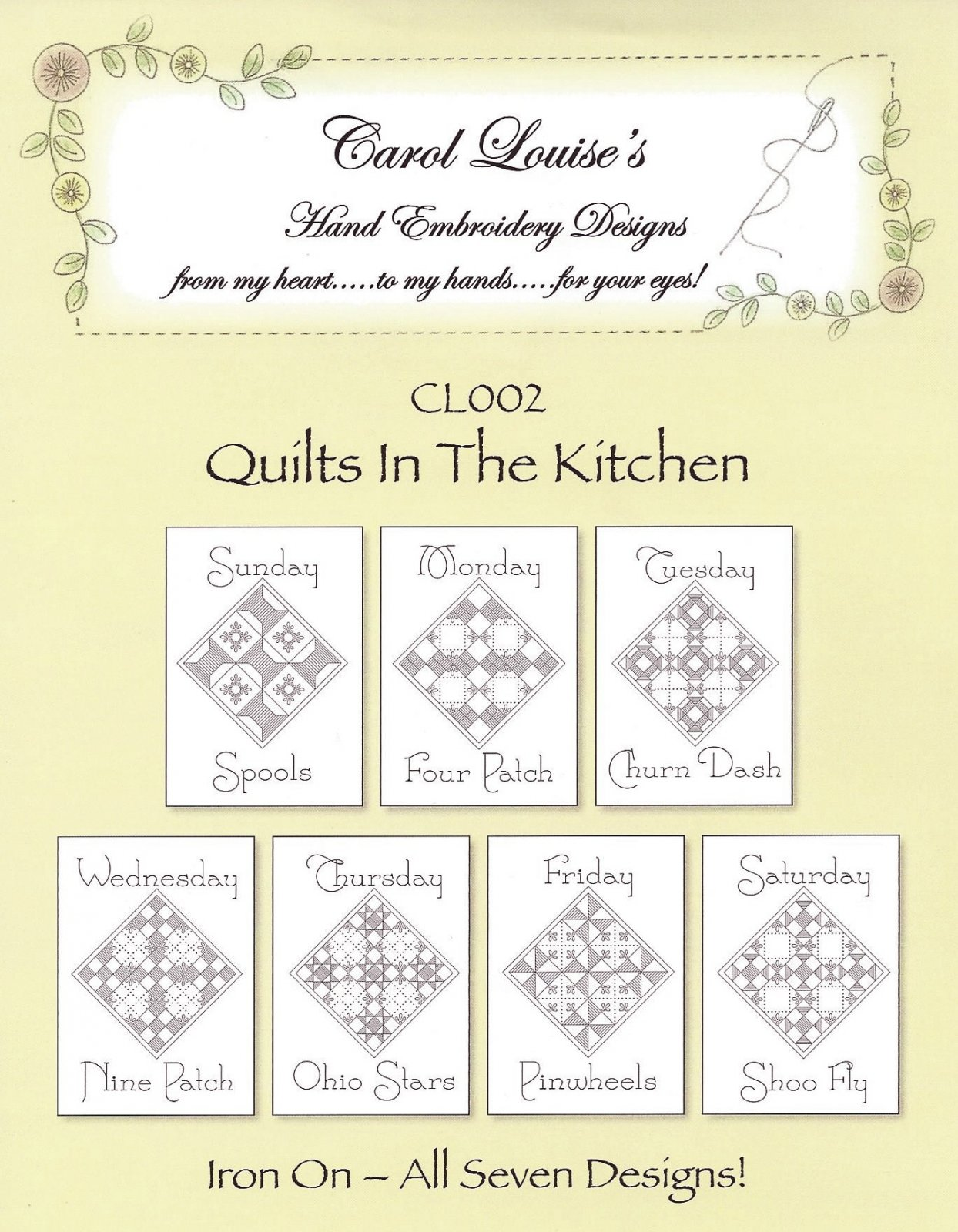 CL002 Quilts in the Kitchen