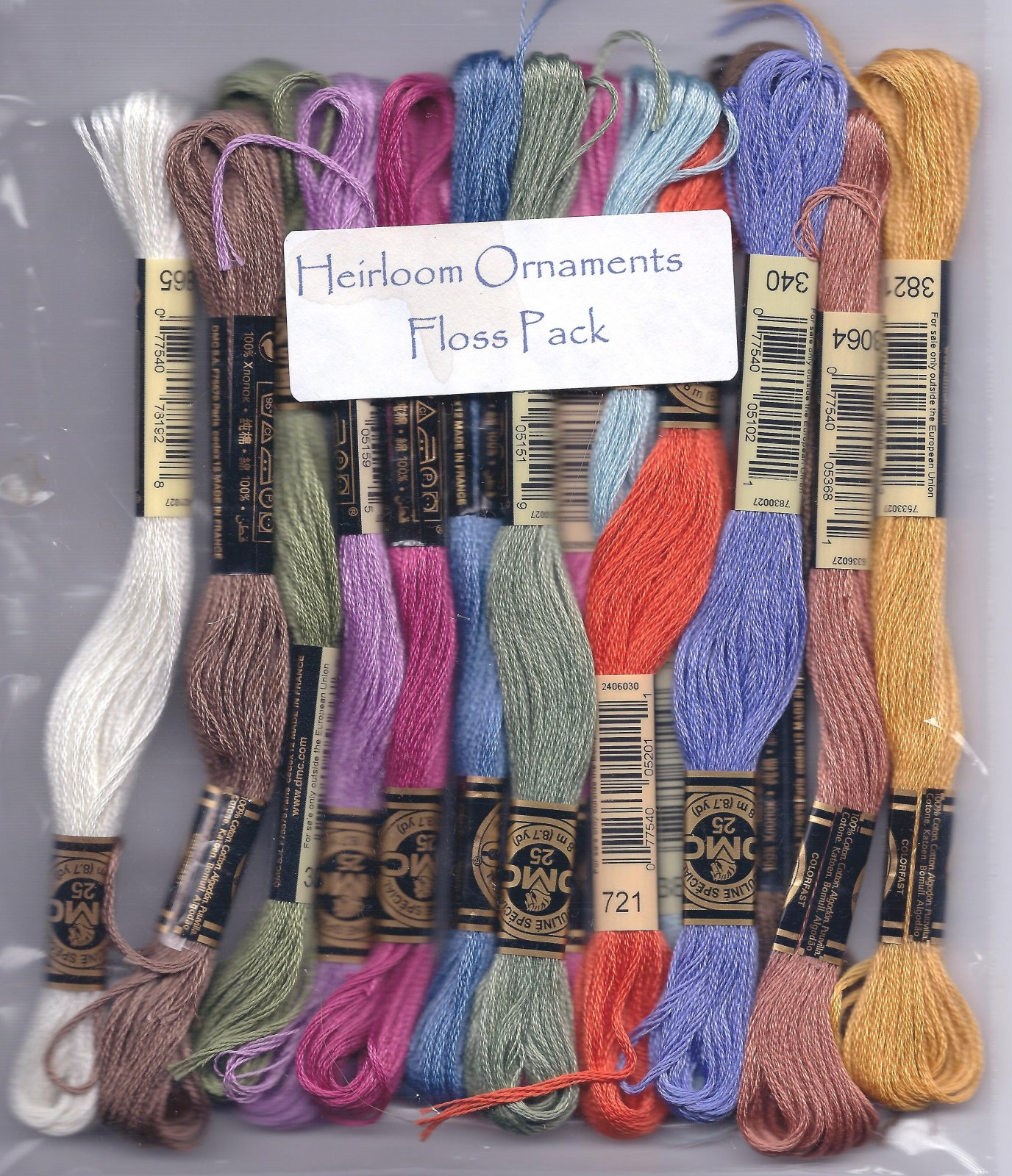 FPHO Heirloom Ornaments Floss Pack