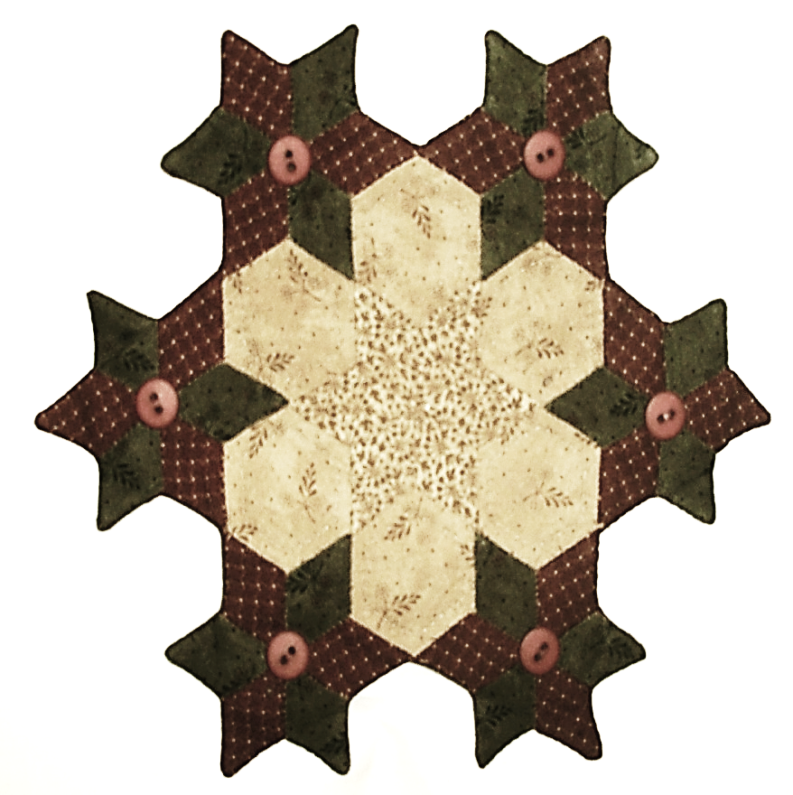 CDH501PP Primitive Star Candle Mat